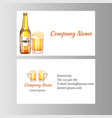 business card beer vector image vector image