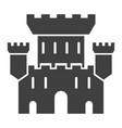 castle black icon medieval building landscape vector image