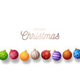 christmas horizontal greeting banner holiday vector image vector image