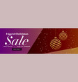 christmas sale stylish banner with creative vector image vector image