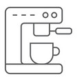 coffee machine thin line icon kitchen and cooking vector image