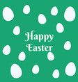 colorful easter eggs pattern on green background vector image