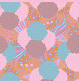 Colorful floral seamless background pattern