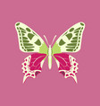 colorful icon of butterfly isolated on pink vector image