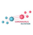 coronavirus mutation evolution virus covid-19 vector image vector image
