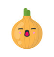 cute smiling onion isolated colorful vector image