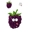 Delicious ripe blackberry vector image