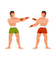 design martial and art icon set of vector image