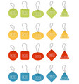 different price tags vector image