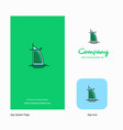 dubai hotel company logo app icon and splash page vector image