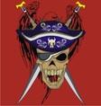 eagle sword skull vector image vector image