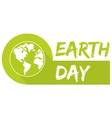 Earth day icon with green planet vector image