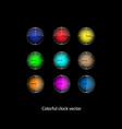 elegant colorful clock vector image vector image