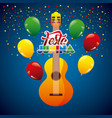 festa junina summer parties vector image