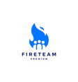 fire team logo flame icon design inspirations vector image vector image