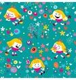 flower girl pattern vector image vector image