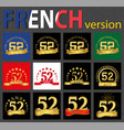 french set of number 52 templates vector image vector image