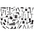 garden tools thin line icons set vector image vector image