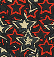 grunge stars seamless vector image vector image