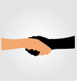 Handshake- Graphic to portray- Stop racism vector image