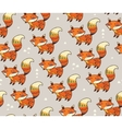 Indian seamless pattern of fox in vector image