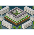Isometric European historic building vector image vector image
