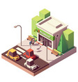 isometric pharmacy or drugstore vector image vector image