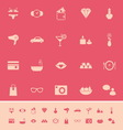 Lady related item color icons on pink background vector image vector image