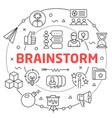 linear brainstorm vector image vector image