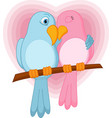 lovely bird on a branch vector image