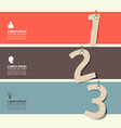 modern Design numbered banners template vector image