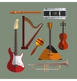 Musical instruments collection Music icon vector image