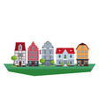old traditional eurpoean vintage houses vector image