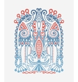 original ethnic pattern with birds and flower vector image