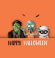 paper art happy halloween vector image