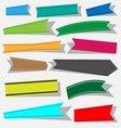 Paper ribbon icons set vector image vector image