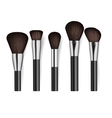 Realistic professional cosmetics brush set vector image vector image