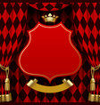 red and black rhomboids background with a vector image vector image