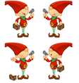 Red Elf Hammer Toolbox vector image vector image