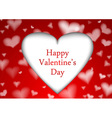 Red valentine background template vector image