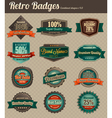 retro badges combined vector image vector image