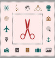 scissors icon symbol elements for your design vector image