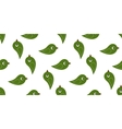 seamless green birds vector image