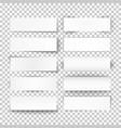 set 10 bended white paper banners vector image vector image