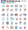 Shopping ultra modern outline artline flat vector image