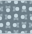 skull and bones pattern seamless death background vector image vector image