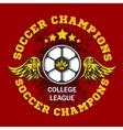 Soccer Badge - emblem on dark background vector image vector image