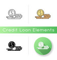 stack coins icon vector image
