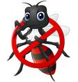 stop mosquito cartoon vector image