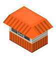 street shop icon isometric style vector image